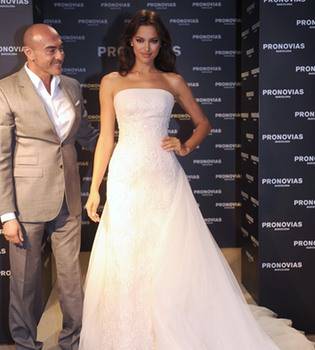 Irina Shayk se viste de novia pero no para Cristiano Ronaldo