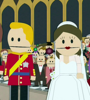 South Park recrea la Boda Real de Kate Middleton y Guillermo
