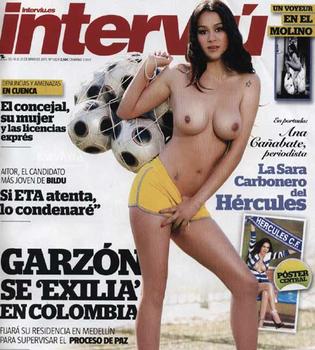 Interviú desnuda a 'la Sara Carbonero del Hércules': Ana Cañabate