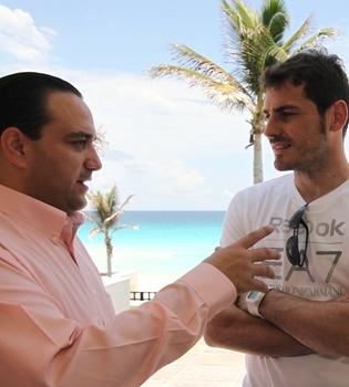 Iker Casillas graba un anuncio para promocionar el Caribe