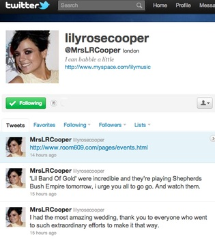 Lily Allen toma el apellido de su marido Sam Cooper