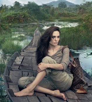Primera imagen de Angelina Jolie posando para Louis Vuitton