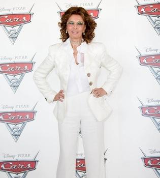 Sophia Loren, la estrella de la presentación de 'Cars 2' en Roma