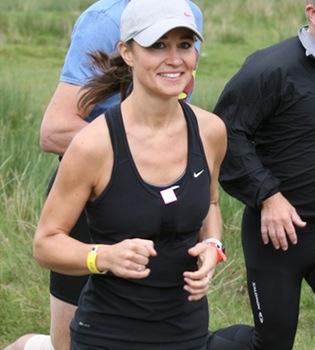 Pippa Middleton presume de forma física en un duathlon