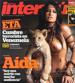 Aída Nízar posó muy salvaje en 'Interviú' antes de liarla en 'Supervivientes'