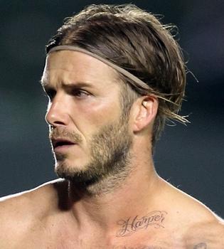 David Beckham se tatúa el nombre de su hija Harper Seven