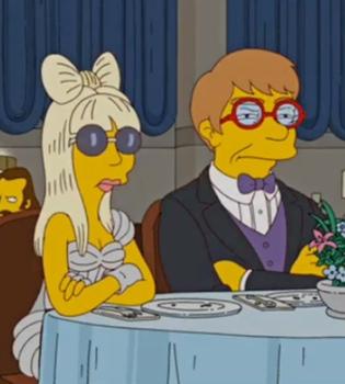 Lay Gaga y Elton John se vuelven amarillos en 'Los Simpsons'