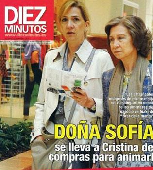 La Reina Sofía visita a la Infanta Cristina e Iñaki Urdangarín