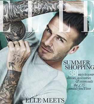 David Beckham, el primer hombre que posa en exclusiva para nosotras