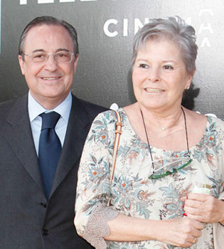 Misa multitudinaria en memoria de 'Pitina', la mujer de Florentino Pérez