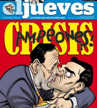 La entrevista de Sara Carbonero a Iniesta y su no beso con Casillas, parodiados en El Jueves