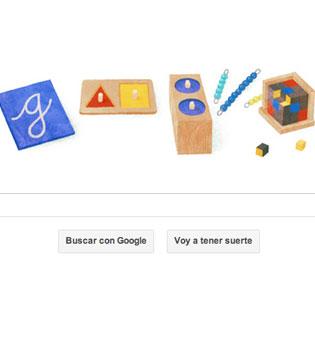La vuelta al cole de Google: un doodle homenaje al método Montessori