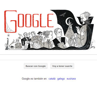 La terrorífica vida de Bram Stoker, nuevo doodle de Google