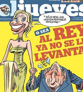 Corinna y el Rey Juan Carlos, parodia en la portada de 'El Jueves'