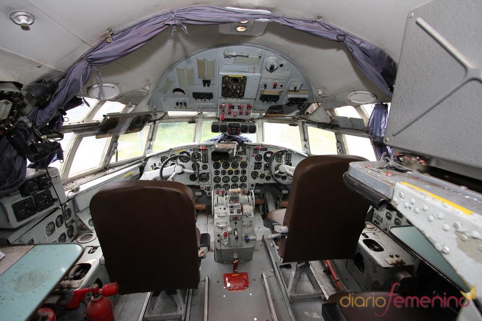Vliegtuigsuite, cabina del avión
