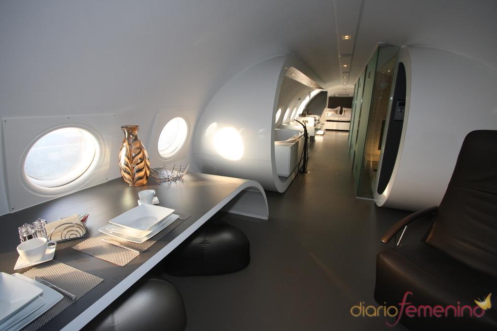 Vliegtuigsuite, zona de relax