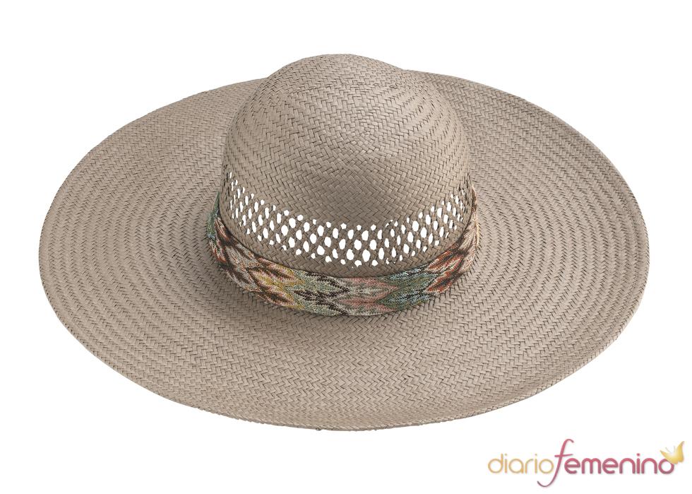 Scarf Trim Floppy Hat