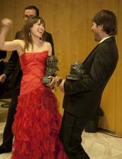 Marta Etura y Alberto Ammann en los Goya 2010
