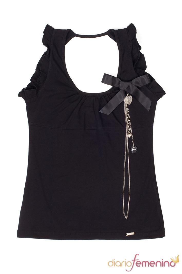 Look negro: camiseta de tirantes de Lolitas&Lolos