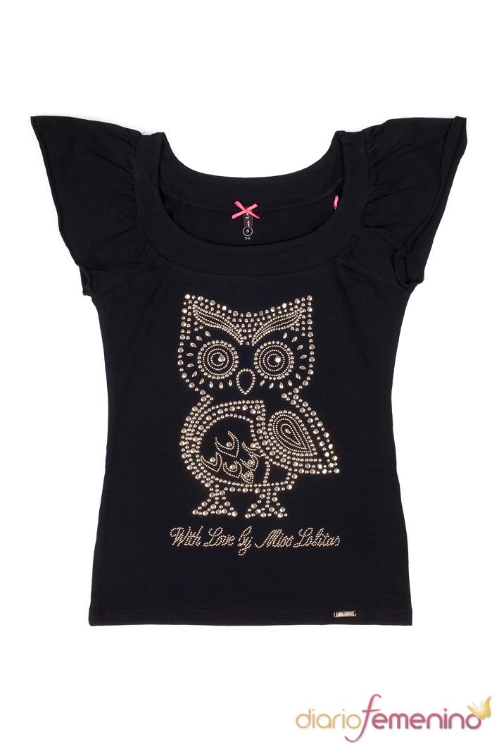 Look negro: camiseta con estampado de Lolitas&Lolos