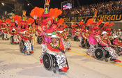 Carnaval Brasil 2010: Escuela Leandro de Itaquera en silla de ruedas