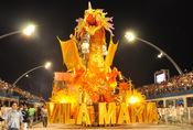 Carnaval Brasil 2010: Escuela Vila Maria, con dragón