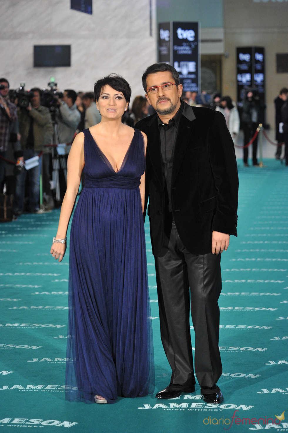 Silvia Abril y Andreu Buenafuente en los Goya 2010