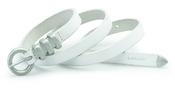 Levi's: cinturón blanco estrecho
