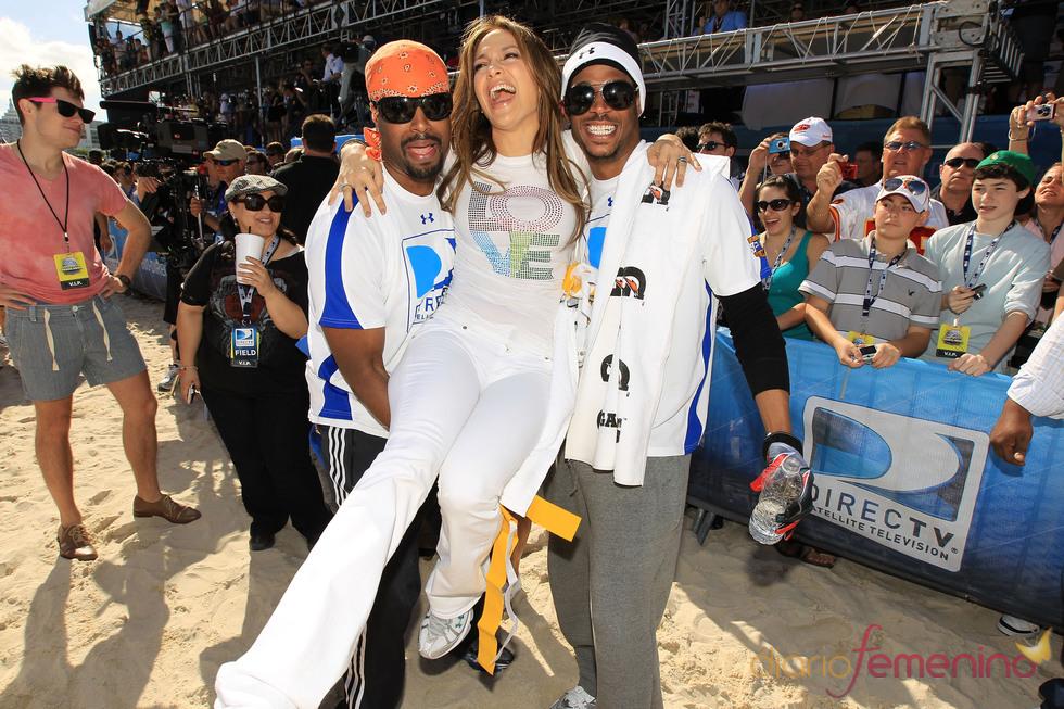 Jennifer Lopez con Shawn Wayans y Marlon Wayans