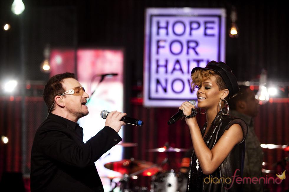 Bono y Rihanna