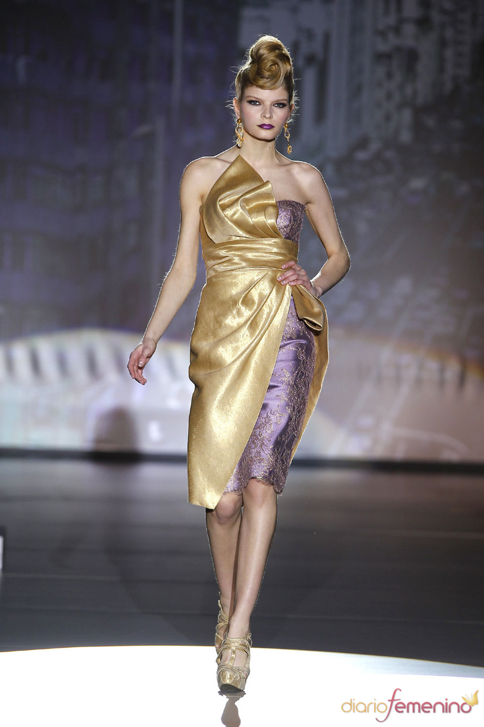 Vestidos de Hannibal Laguna en Cibeles 2010
