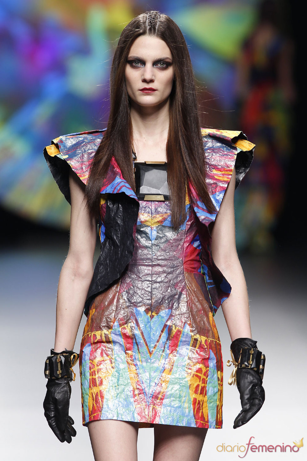Vestido multicolor de Ana Locking - Cibeles 2010
