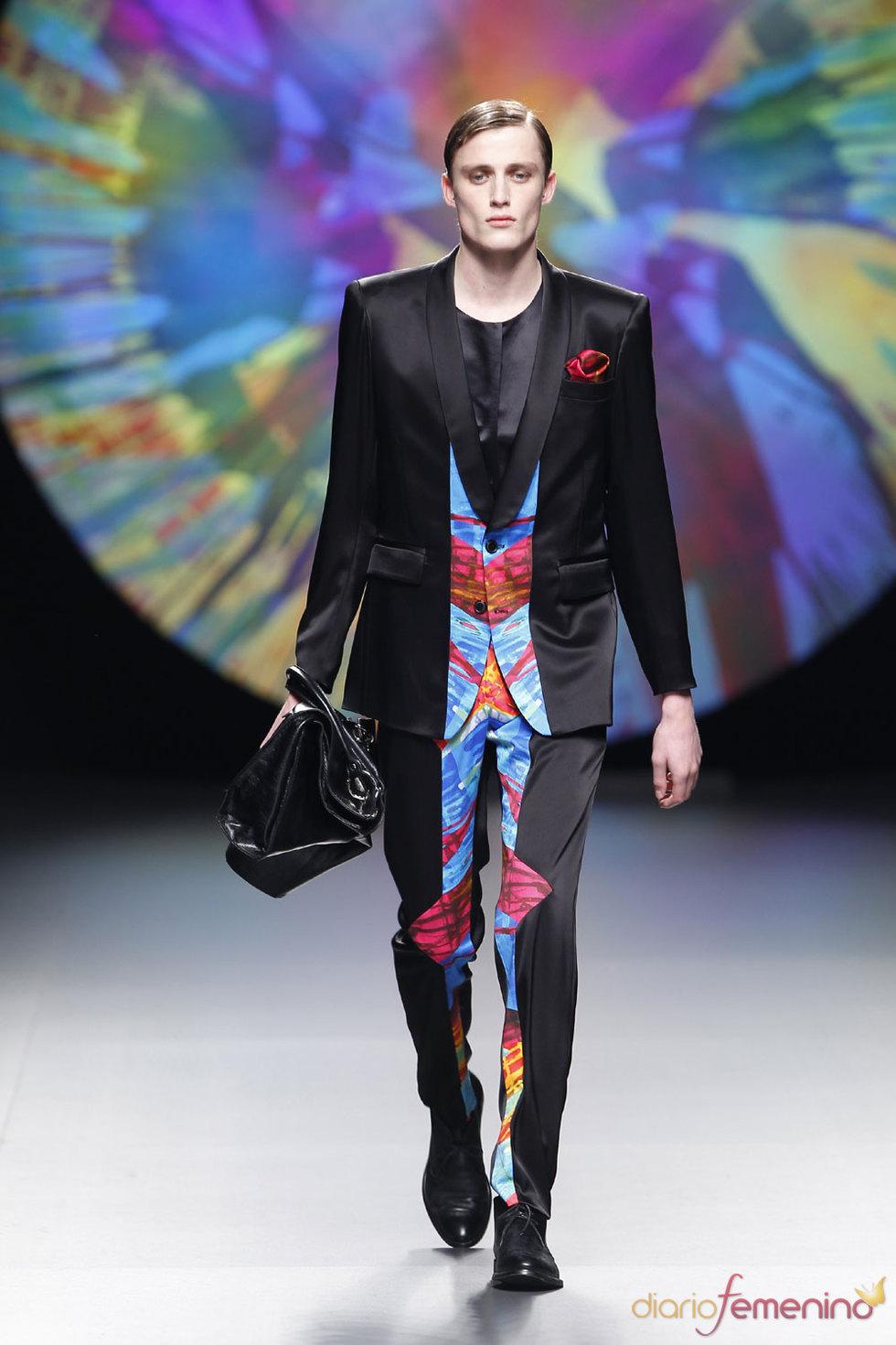 Moda Hombre - Traje negro y color de Ana Locking