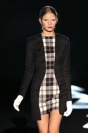 Vestido corto de estampados de gales - Davidelfin