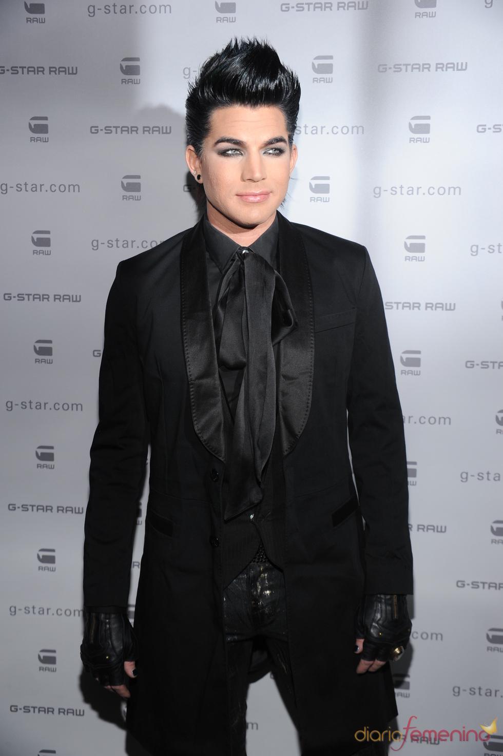 Adam Lambert en el desfile G-Star