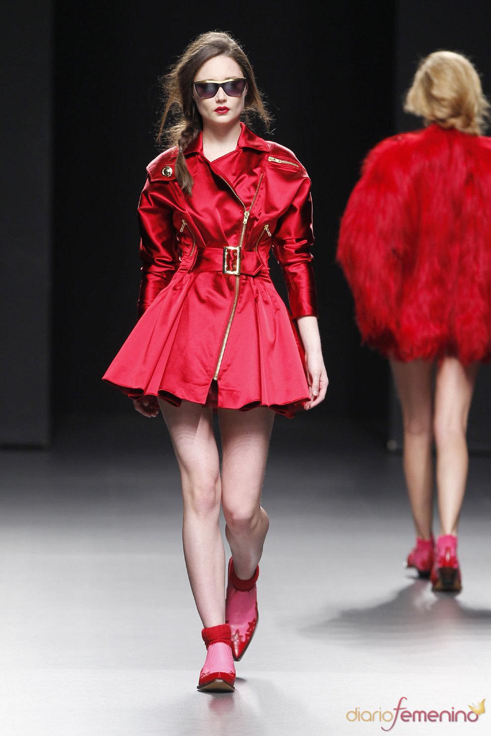 La diseñadora María Escoté - Desfile Cibeles Fashion Week 2010