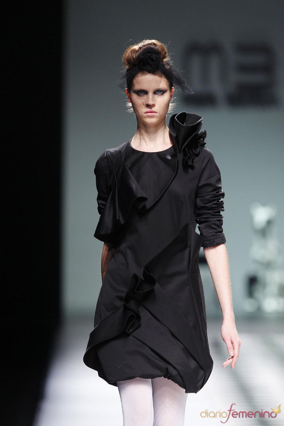 Vestido noche de María Barros - Cibeles 2010