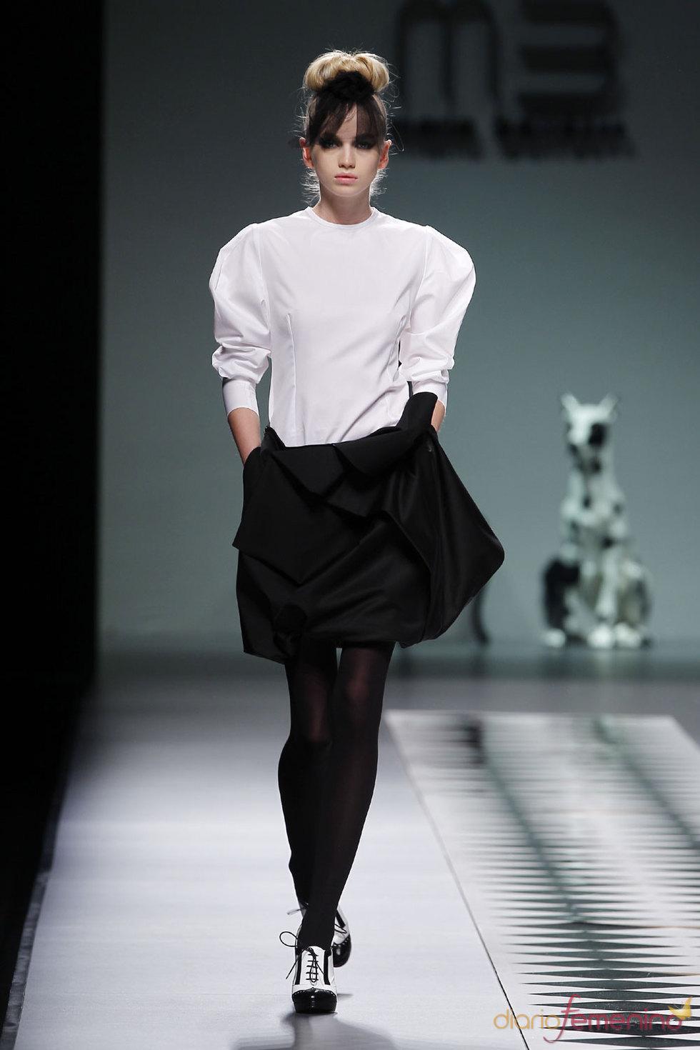 Moda Otoño Invierno en blanco y negro - María Barros