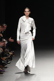 Vestido largo de Juana Martín - Cibeles Fashion Week 2010