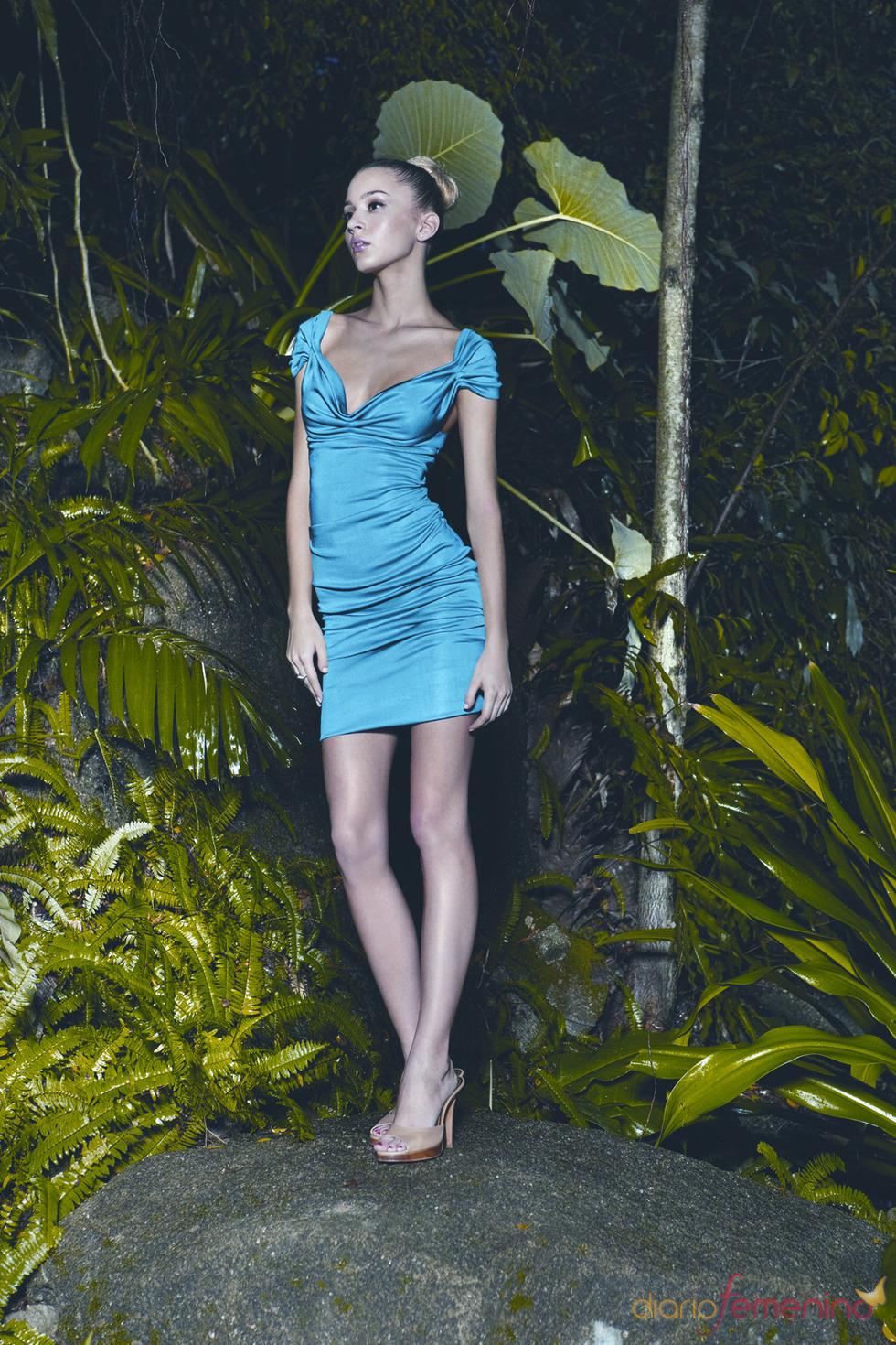 Vestido azul de Etxart & Panno