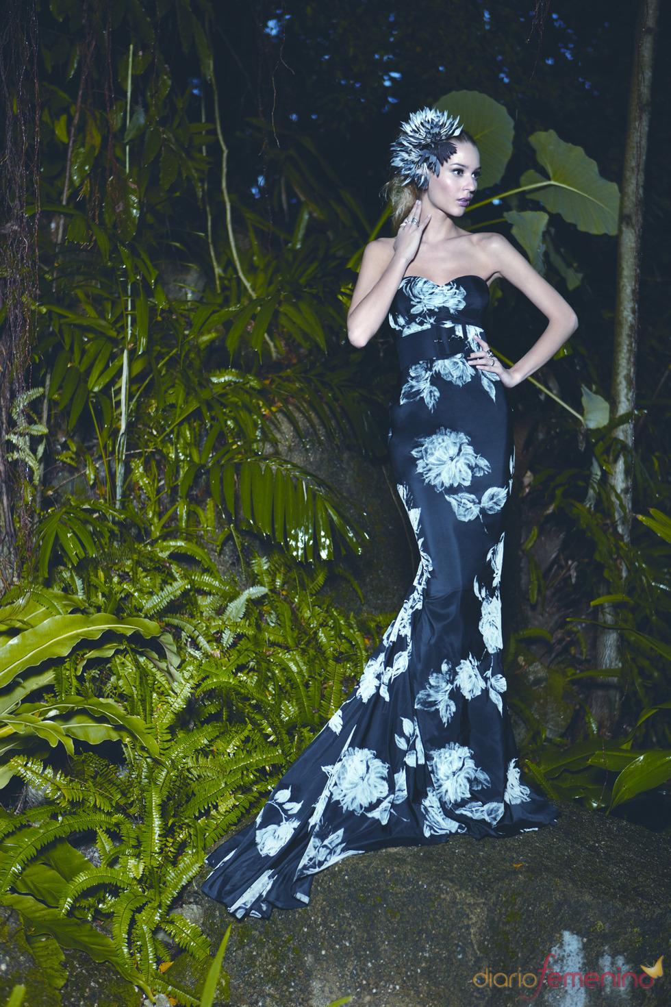 Etxart & Panno: vestido con estampado floral