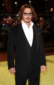 Johnny Depp en la première de 'Alice'