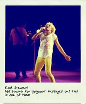 Worn By: camiseta de Rod Stewart