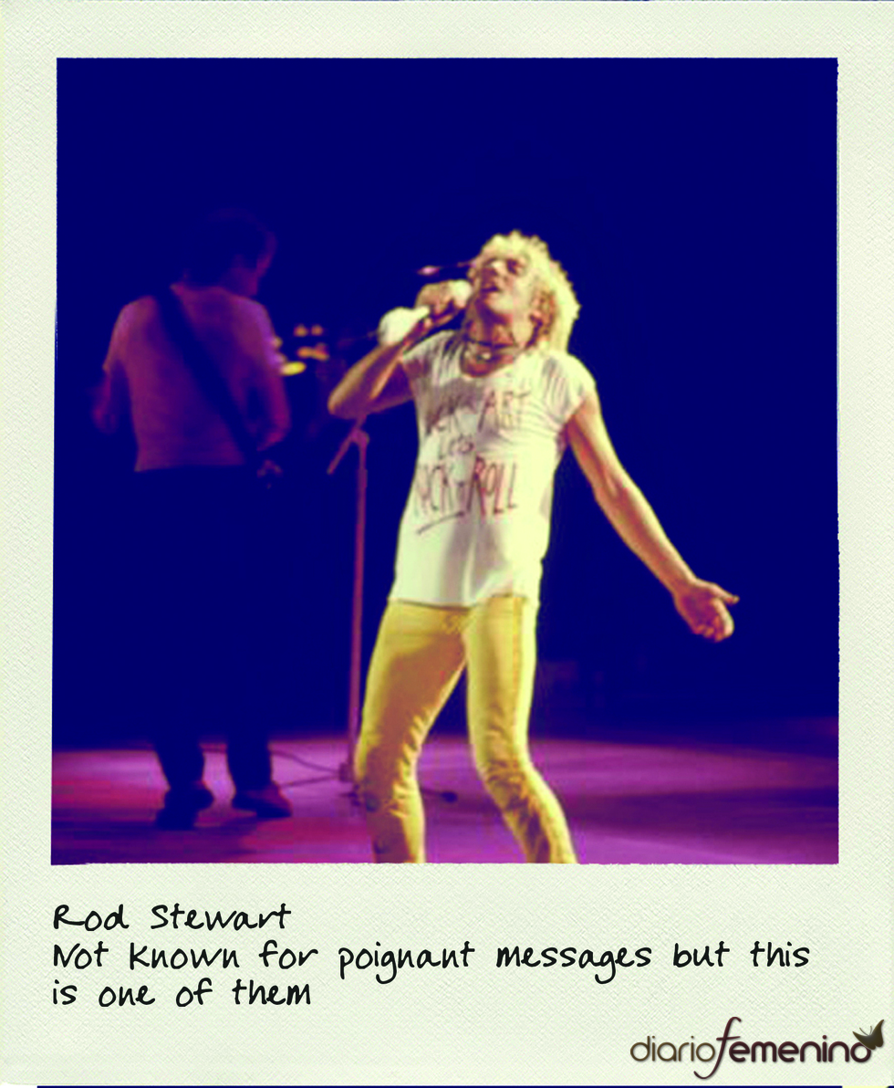 Worn By: camiseta de Rod Stewart
