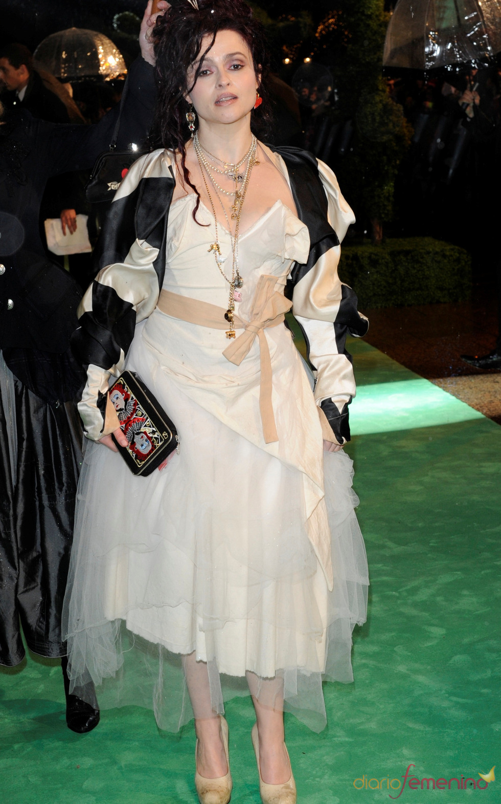 Helena Bonham Carter en la presentación de 'Alice'