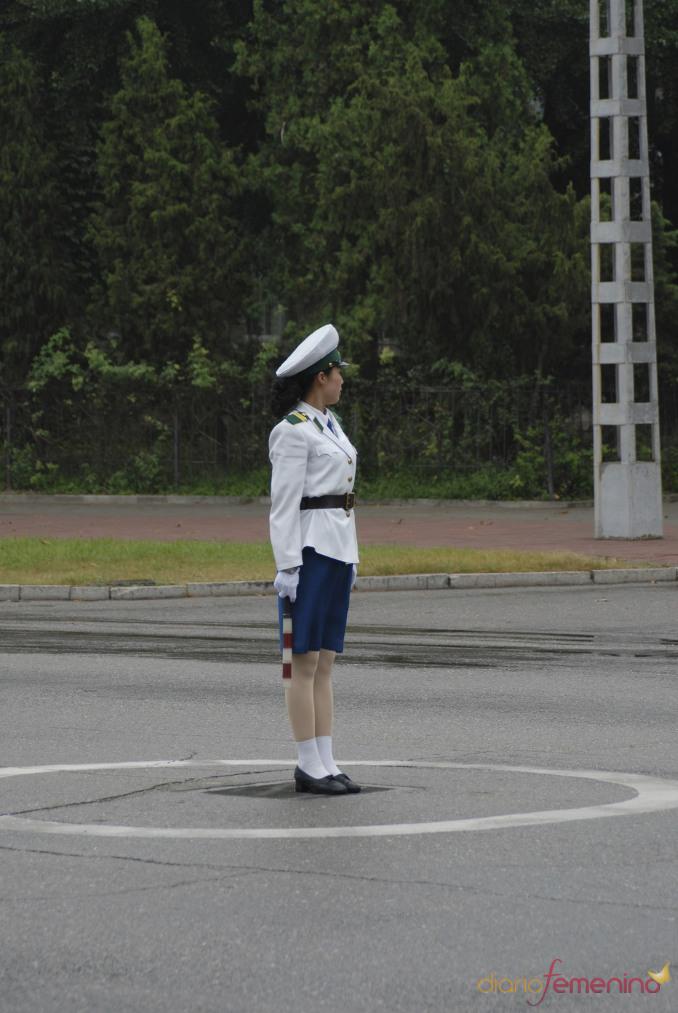 Guardia de tráfico en Corea del Norte