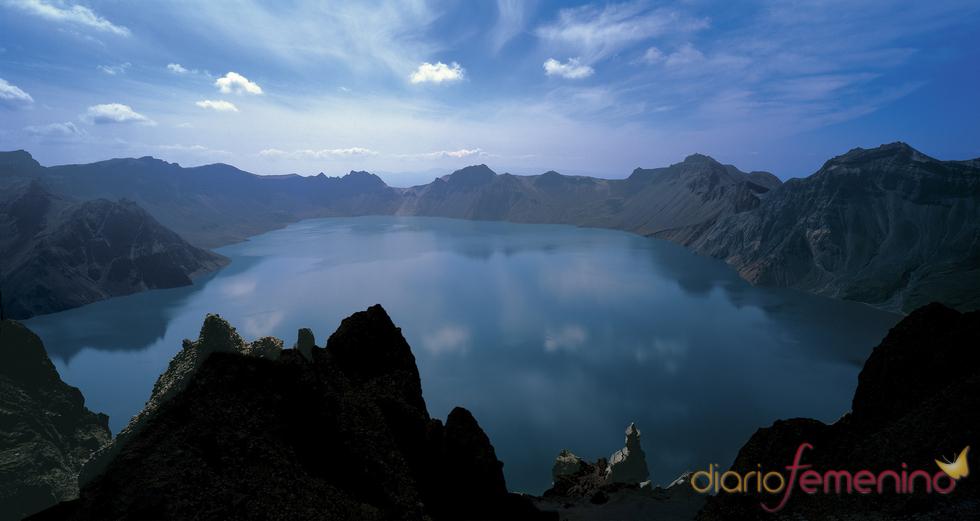 Lago del cielo en Corea del Norte