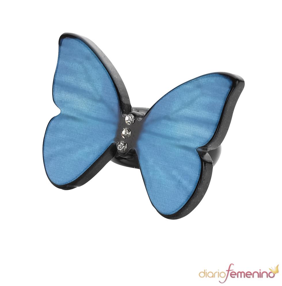 Anillo Accessorize de mariposa