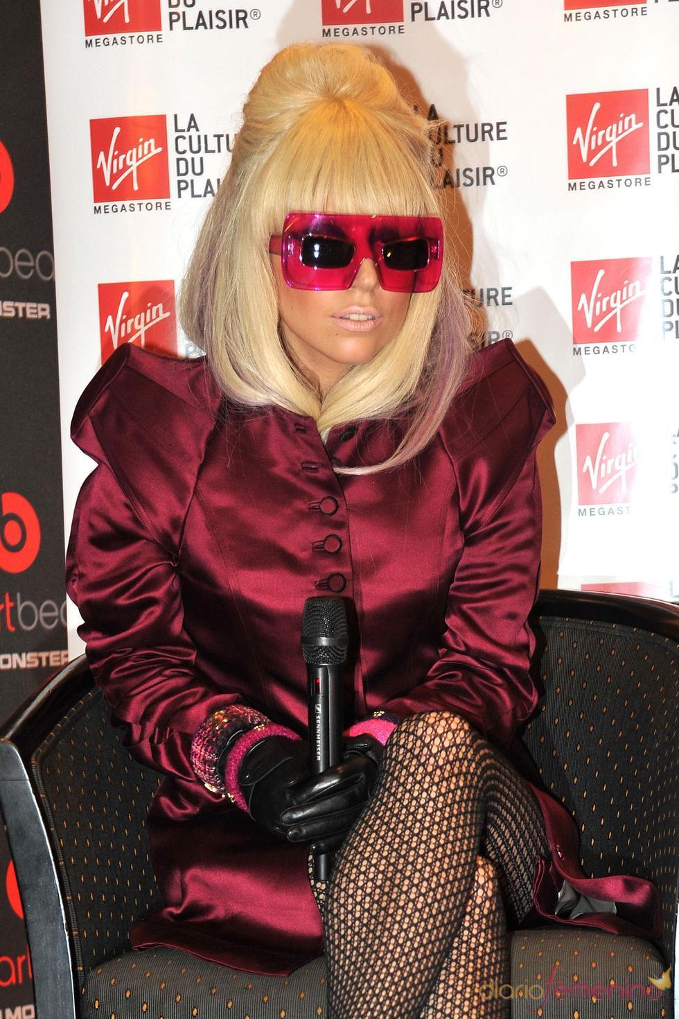 Lady Gaga: rosa en Francia