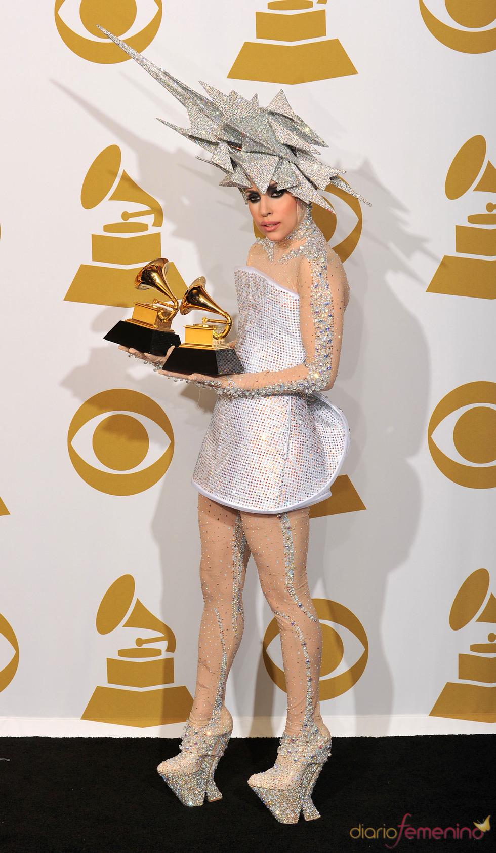 Lady Gaga, brillante en los Grammy